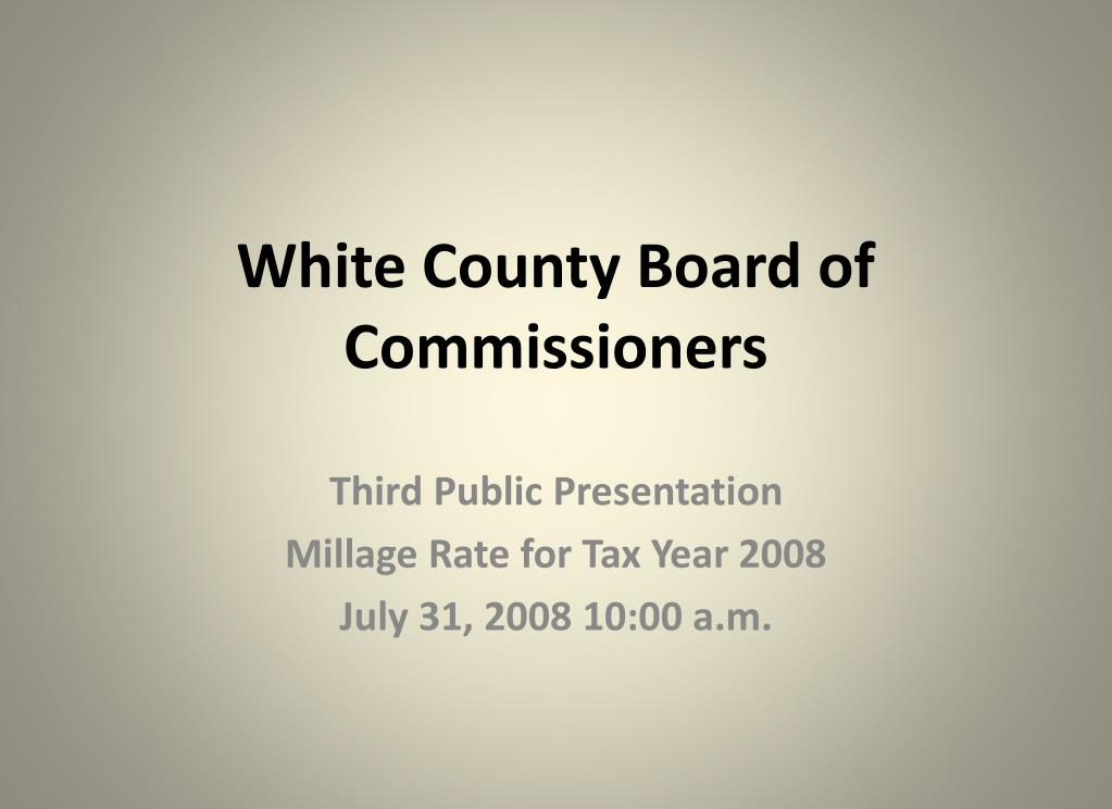 white county board of commissioners l.