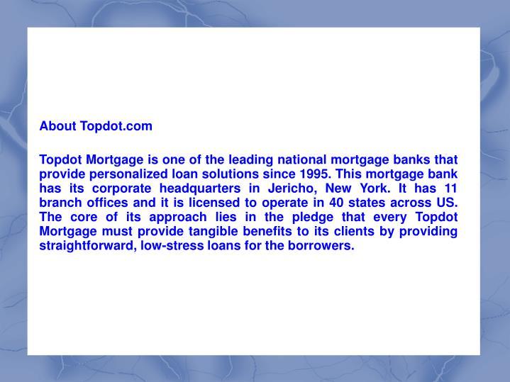 About Topdot.com