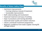 benefits of water safety plans