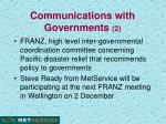 communications with governments 2
