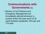 communications with governments 3