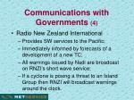 communications with governments 4
