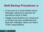 nadi backup procedures 2