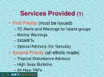 services provided 1