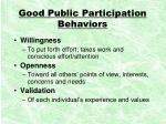 good public participation behaviors