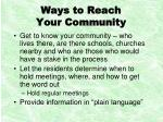 ways to reach your community