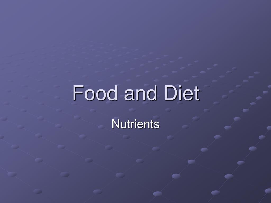 food and diet l.