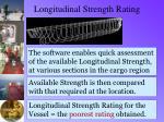 longitudinal strength rating