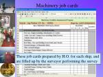 machinery job cards