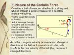 8 nature of the coriolis force