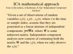 ica mathematical approach from a hyvarinen a karhunen e oja independent component analysis