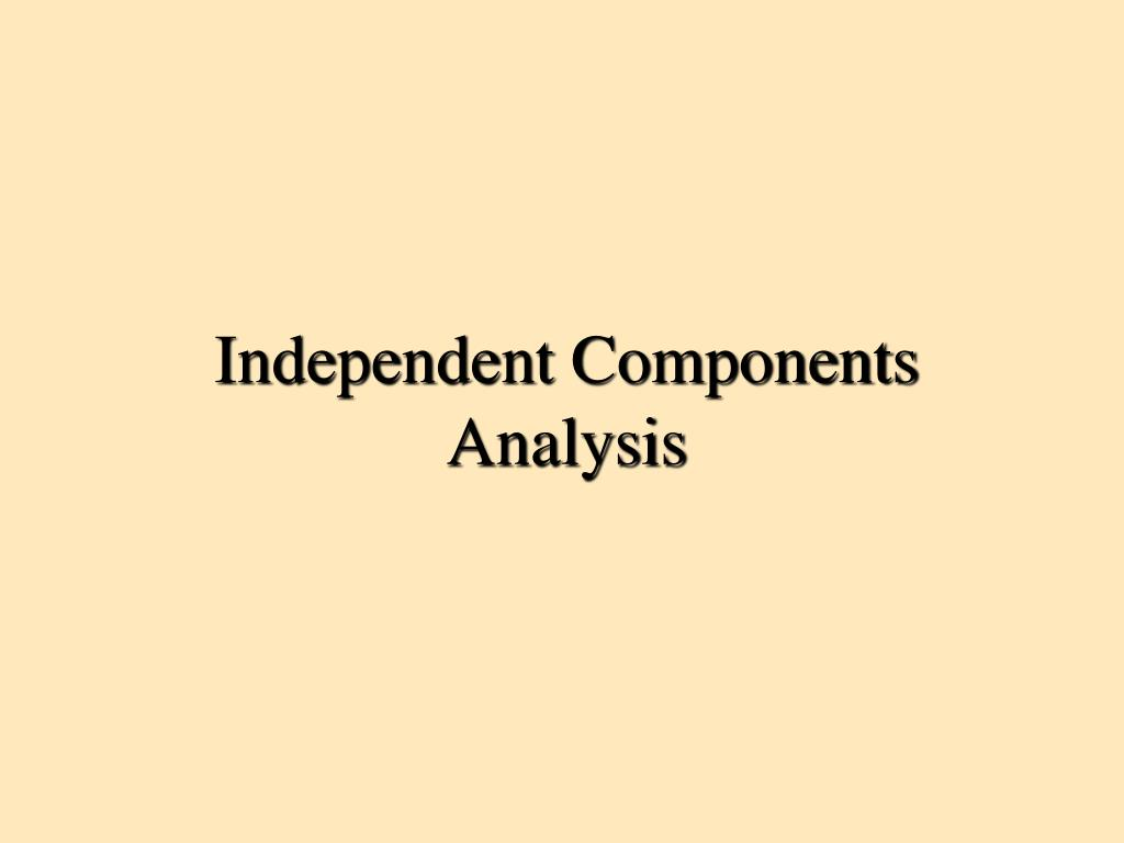 independent components analysis l.