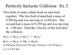 perfectly inelastic collision ex 2