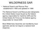 wilderness sar