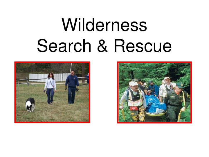 wilderness search rescue n.