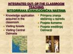 integrated out of the classroom teaching integrirana izvanu ioni ka nastava