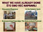 what we have already done to smo ve napravili