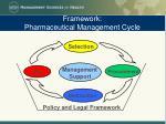 framework pharmaceutical management cycle