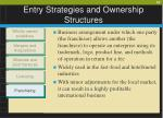 entry strategies and ownership structures10