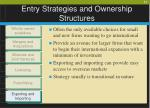 entry strategies and ownership structures11