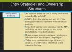 entry strategies and ownership structures6