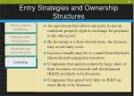 entry strategies and ownership structures9
