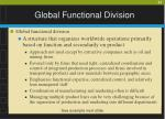 global functional division