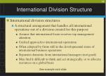 international division structure