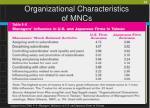 organizational characteristics of mncs36