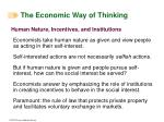 the economic way of thinking24