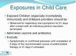 exposures in child care
