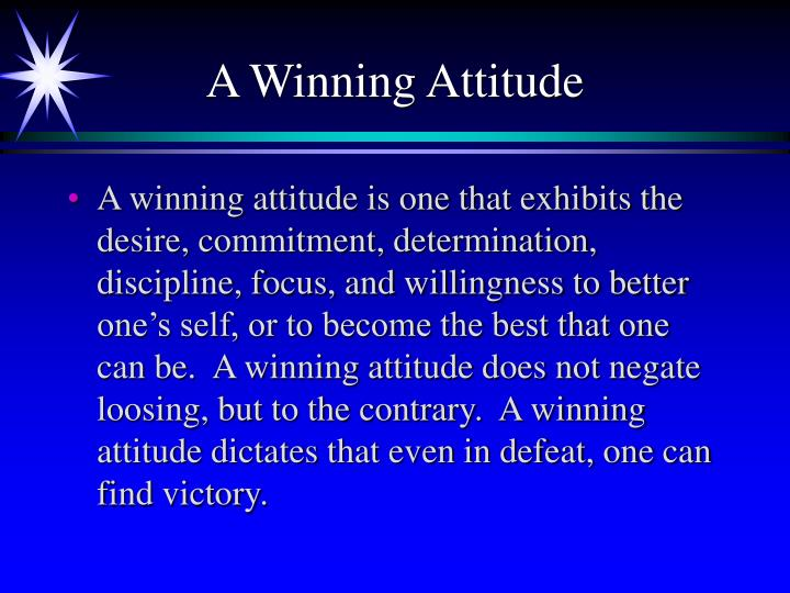 A winning attitude3