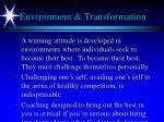 environment transformation