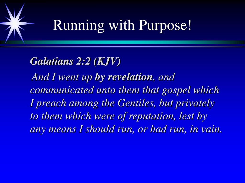 Running with Purpose!