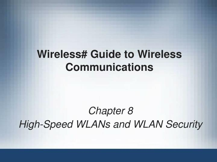 wireless guide to wireless communications n.