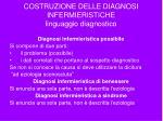costruzione delle diagnosi infermieristiche linguaggio diagnostico21