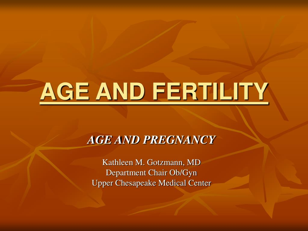 age and fertility l.