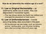 how do we determine the relative age of a rock7