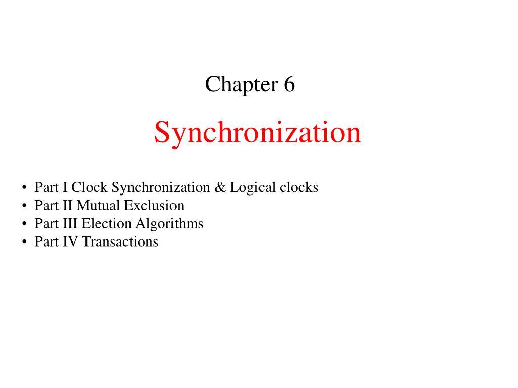 synchronization l.