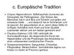 c europ ische tradition