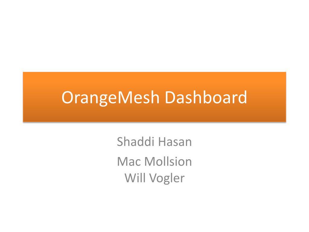 orangemesh dashboard l.