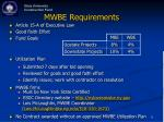 mwbe requirements