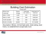 building cost estimation folwell 2000