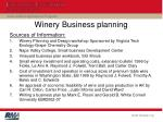 winery business planning
