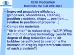 ghg redcution maximise the fuel efficiency23