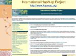 international hapmap project http www hapmap org