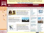 national human genome research institute http www genome gov
