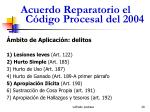 acuerdo reparatorio el c digo procesal del 200420