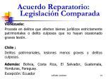 acuerdo reparatorio legislaci n comparada