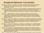 academic behavior connection